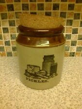PEARSONS OF CHESTERFIELD PICKLES STONEWARE JAR WITH CORK STOPPER