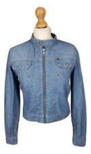 Q231 Tommy Hilfiger Denim Ladies Blue Denim Short Jacket, Medium