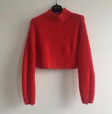 H&M Red Cable Cropped Jumper Size 6 - perfect condition  (still in the shops)