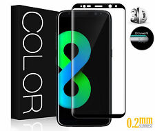 3d 0.2mm 9h Ultra Duro idrogenato HD + blindato Samsung Galaxy s8-Nero ▄