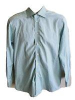 Eton Mens Size 15.5/39 Plaid Button Front Contemporary Fit L/S Dress Shirt
