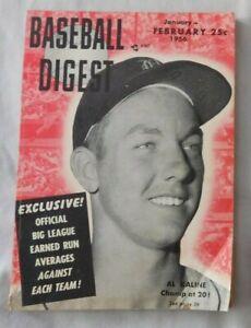 February 1956 Baseball Digest Al Kaline Detroit Tigers