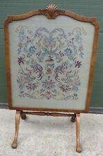 More details for vintage davrard walnut-framed tapestry firescreen tilt-top occasional table