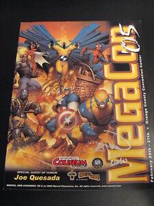 MEGACON 2005 CONVENTION GUIDE, GREAT JOE QUESADA ART! **SIGNED BY VAN SCIVER!**