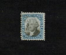 #R104 2c Black & Blue Used Cancel