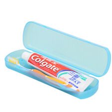 2pc Toothbrush Case For Travel Plastic Toothpaste Storage Box Organizer FD8
