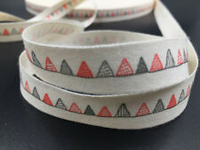 Triangle flag Cotton Ribbon Hand Made Design Home Party Decor Sewing Craft 15mm
