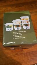 Ovente 3-Tier Electric Steamer for Vegetables and Food with Timer, 7.5-Quart NEW
