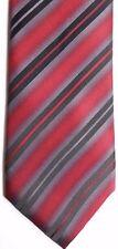 "Kenneth Cole Reaction Men's Silk Tie 59"" X 3.25"" Multi-Color British Stripes"