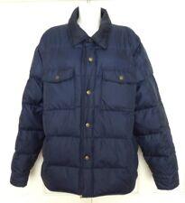 Eddie Bauer XL Stylish Blue Goose Down Padded Coat