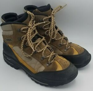 Men's Lowa Goretex Vibram brown lace up ankle Hiking Work Boot Size 8.5