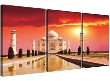 Large Islamic Taj Mahal Canvas Art Set of 3 for your Bedroom