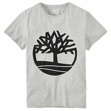 Timberland Men's Short Sleeve Seasonal Logo Tee Grey-Black TB0A1N8Y-K65