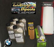 KIT TAGLIANDO BMW SERIE 3 320D E90 E91 E92 E93 120KW 163CV 6L OLIO 5W30 + FILTRI