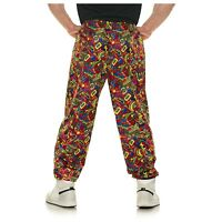 Mens I Love The 90s Costume Parachute Pants Colorful Halloween Baggy OS 2XL