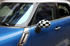 Checkered Flag UK Side Wing Mirror Cover Cap fit MINI Cooper/Countryman 08-12