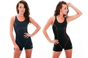 Einteiliger Damen Schwimmanzug Badeanzug mit Bein RITA Aqua-Speed