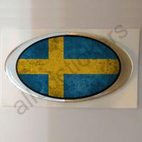 Pegatina Suecia Ovalada Pegatinas Bandera Vieja Adhesivo 3D Resina Relieve