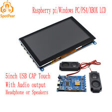 Raspberry Pi 5inch LCD USB Capacitive  Touch screen for computer PC XBOX PS4