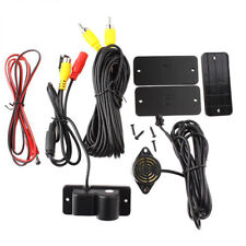 2 in 1 LCD Car SUV Reverse Parking Radar Sensor Rear View Backup Camera +Cable