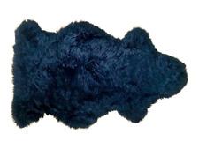 Organic Black Sheepskin Rug, 100% Natural, Real, Super Soft, Handmade, Ethical