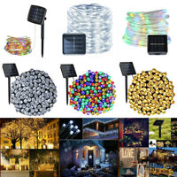 Outdoor Solar String Light 100 LED 33ft Copper Wire Fairy String Lamp Xmas FB