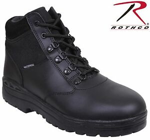 Mens Black Military Style Forced Entry Waterproof Tactical Boots by Rothco