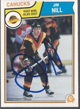 Vancouver Canucks JIM NILL Signed Card