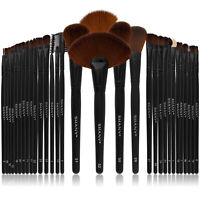 SHANY Professional Brush Set with Faux Leather Pouch, 32 Count Synthetic Bristle