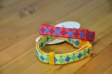 Dog Collar Pink Diamond Pattern Nylon Small XS