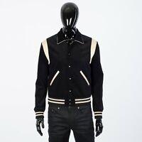 CELINE HOMME 1950$ Black Teddy Jacket With Constrasting Yoke In Corduroy