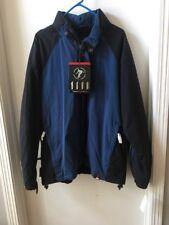 Mens M ZeroXposur Navy Black Hooded All Weather Fleece Coat Waterproof