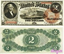 PREPRODUCTION 2 US dollars $ 1880 serial number solid 9