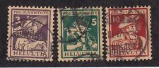 Switzerland Scott #'s B4 - B6 set VF used nice color cv $ 125 ! see pic !