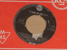 """HARRY BELAFONTE WITH BOB CORMAN'S ORCHESTRA -Island In The Sun- 7"""" 45"""