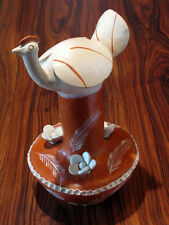 Brazilian Ceramic bird piece by Naif Folk Artist Jacinta dos Santos