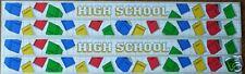 HIGH SCHOOL 12 INCH BORDER SCRAPBOOK STICKERS  2 SHEETS