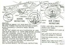 1967 COUGAR/XR-7 JACK INSTRUCTION   DECAL