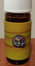 Glass stash jar fimo clay Jerry Garcia design