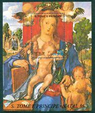 ST. THOMAS SCOTT # 803 MADONNA ART NATAL SHEET, MINT, OG, NH, GREAT PRICE!