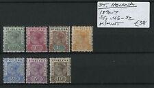 St. Helena 1897-97 SG.46-52 M/M