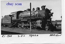 O510 RP 1930s  CRI&P RR ROCK ISLAND TRAIN ENGINE #1948 2-8-0 TOPEKA KS
