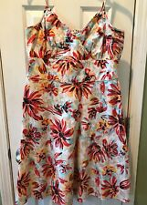 New York & Company Multi Color Floral dress Sz 16