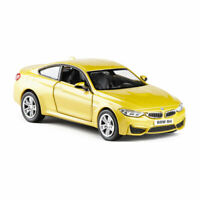 BMW M4 1/36 Model Car Diecast Vehicle Gift Toy Kids Collection Gold