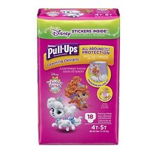 HUGGIES Pull-Ups Learning Designs, Girls' Training Pants Size 4T-5T, 18 count