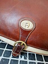 Orig. AIGNER Ledertasche Damentasche Herrentasche saddle bag für Din-A-4 Tasche