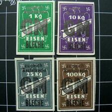 German WW2 IRON ration stamps-GM PLATE STEEL- 3rd reich- Germany- swastika/eagle