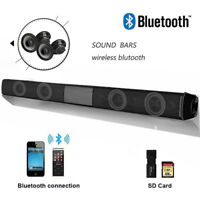 2019 Bluetooth Wireless TV Soundbar 4 Speaker 3D Sound Bar Theater Subwoofer AUX