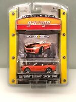 Greenlight MUSCLE CAR GARAGE 2007 Chevy Camaro Concept Convertible Orange NIP