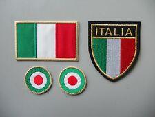 KIT N 4 TOPPE PATCH ITALIA ORO RICAMATI TERMOADESIVI